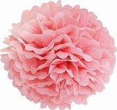 Pompon - Roze - 14cm - Feestdecoratie