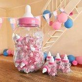 Papfles Babyshower - Babyshower Versiering - 30 flesjes - Roze