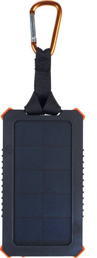 Xtorm Solar powerbank - Outdoor oplader op zonne-energie – 5.000 mAh – led power indicator – USB 1x – USB-C en met Flashlight - oranje