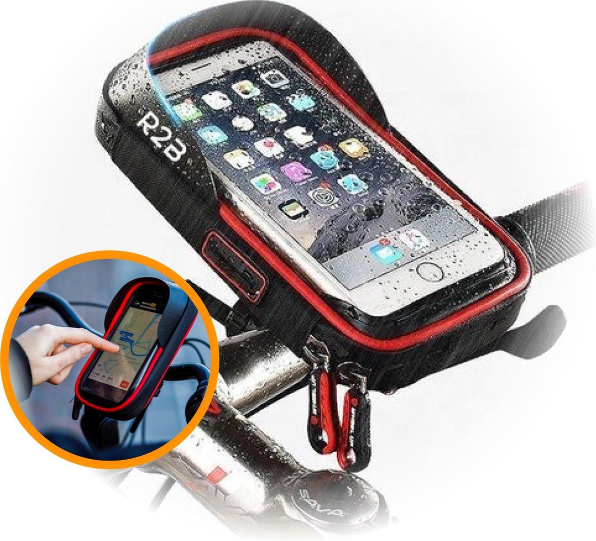 R2B Telefoonhouder Fiets Waterdicht met 360 graden rotatie - Universeel - Gsm houder fiets - Fiets t