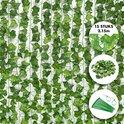 Fissaly® 15 Stuks Hedera Helix Klimop Slinger Versiering Set – Backdrop Planten Decoratie voor Woonkamer & Feest – Kunstplant, Hangplant & Nepplant