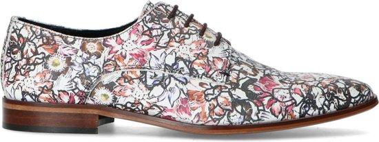 Sacha - Heren - Leren veterschoenen in kleurrijke print - Maat 44