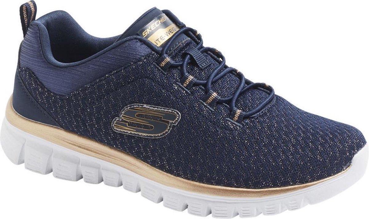 Skechers Dames Donkerblauwe sneaker memory foam - Maat 40