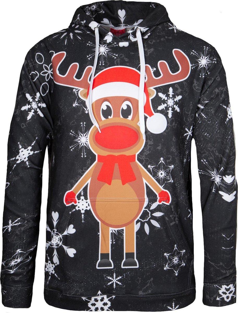 """Rudy Land ® Kersttrui Sweatshirt """"Black Edition"""" Hoodie"""