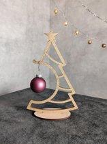 Decoratie kunst kerstboom goud 20 cm kerstbal houder kerstversiering