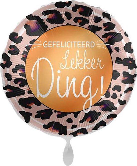 Everloon - Folieballon - Gefelciteerd Lekker Ding! - 43cm - Voor Verjaardag