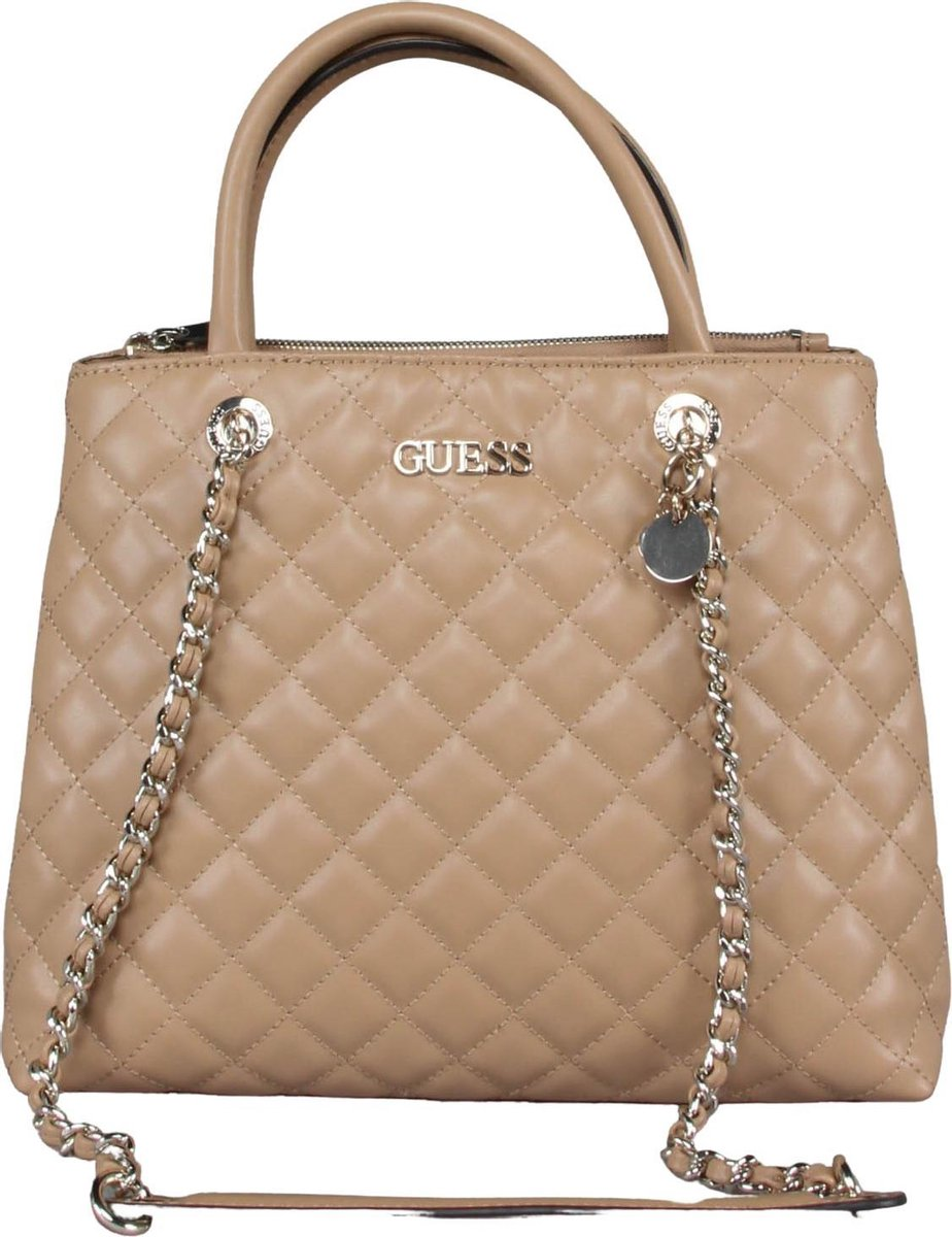 Guess - Illy Society Satchel - Beige - Vrouwen