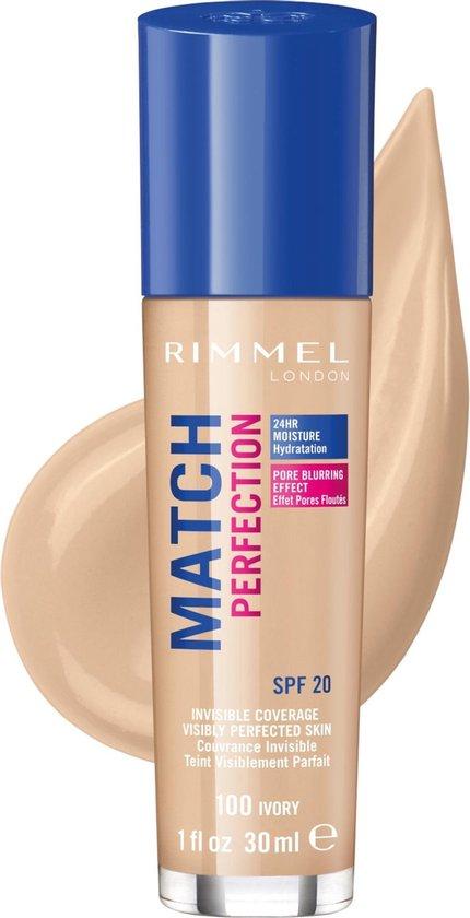 Rimmel London Match Perfection Foundation - 100 Ivory - Beige - Rimmel London