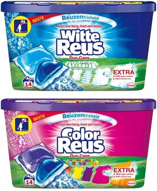 Witte Reus Duo-Caps Wit & Kleur Pakket