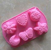 Siliconen bakvorm - Cupcake vormpjes - Voor kinderen - Roze - Herbruikbaar - Cakevorm siliconen -