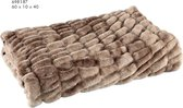 PTMD - Softy Brown Artificial fur ribbed blanket S