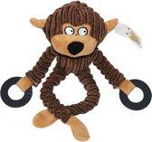 Honden Kauwspeelgoed - Hondenspeelgoed piep - Knuffel hond - Kauwspeelgoed hond - Puppy Knuffel - Honden speeltje - Bruin