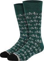Bike Green Sokken - Unisex Maat 41-46