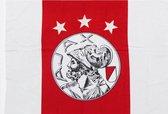 Ajax-vlag wit-rood-wit oud logo 150x225cm