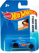 Hot Wheels Gum Auto Junior 6 Cm Rubber Blauw/zwart