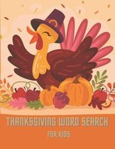 Thanksgiving Word Search For Kids