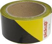 Signaleringstape Markeringstape geel zwart - 33 mtr x 5 cm