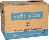 Verhuisdozen - 20 stuks - Zelfsluitend - Klik Klak - 48x32x36 cm - 58 liter - Enkel gegolfd karton | Specipack Standaard