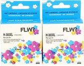 FLWR - Inktcartridges / 303XL / 2-pack Zwart & Kleur - Geschikt voor HP