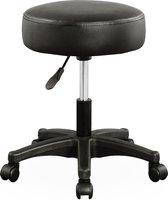 Monzana Bureaustoel bureaukruk - draaistoel - met gestoffeerde zitting - zwart
