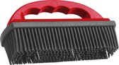 handborstel rubberen haren-pet hair remover-pet grooming brush (kleur rood)16x8,5x3x5cm
