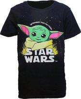 The Mandalorian Baby Yoda Kids T-Shirt Blauw - Officiële Merchandise