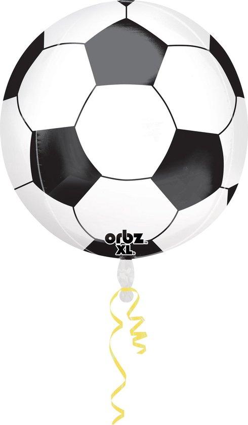 Orbz Ballon Orbz 38 X 40 Cm Folie Zwart/wit