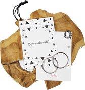 Bewaarbundel kaartjesbundel voor knutselwerkjes geboortekaarten trouwkaarten zwart wit motief