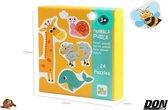 24 x 2 Stuk Dieren Puzzels / Puzzels Speelgoed voor Kinderen 3 + Jaar (Dieren) – 24 Puzzels (2 Stuks per puzzel) / Educatieve Dieren Puzzels voor Kinderen / Speelgoed voor Kinderen / Educatief speelgoed Cadeau / Animal Puzzle