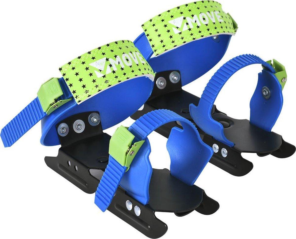 Move - Bob skates - Kinderschaatsen - Maat 24-34 - Verstelbare schaatsen kinderen - Glijijzers - Blauw - Groen