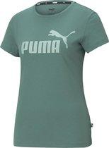 PUMA Essential Logo Dames T-Shirt - Maat L