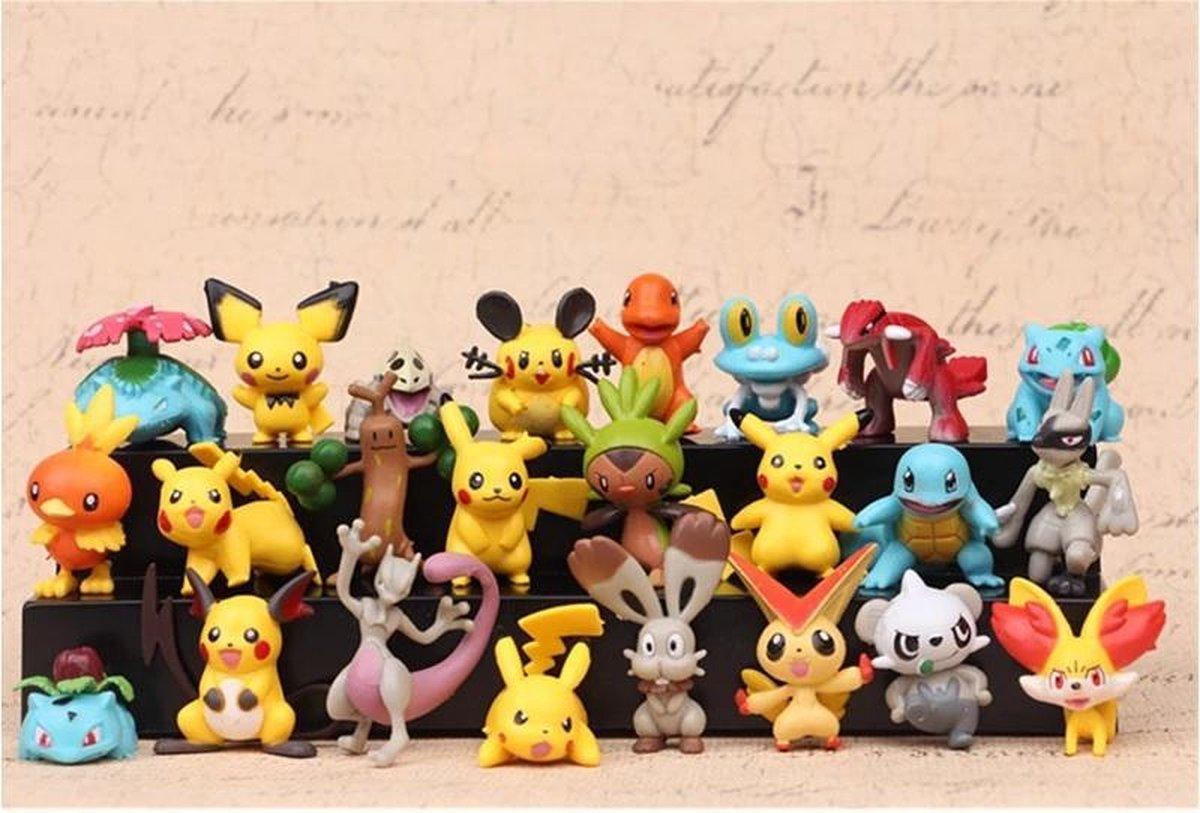 8 Unieke Pok mon Speel Figuren 4-6 cm - Gotta Catch 'em All! Toys exclusive