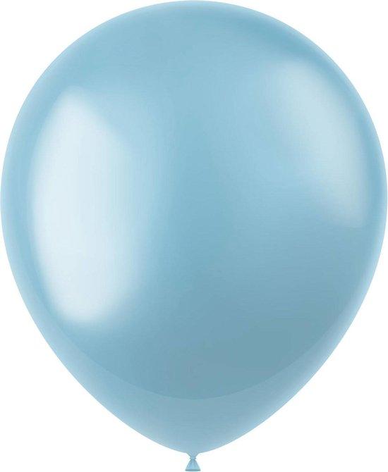 Lichtblauwe Ballonnen Metallic Sky Blue 33cm 50st