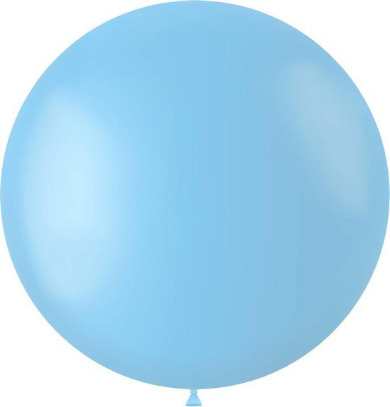Lichtblauwe Ballon Powder Blue 80cm