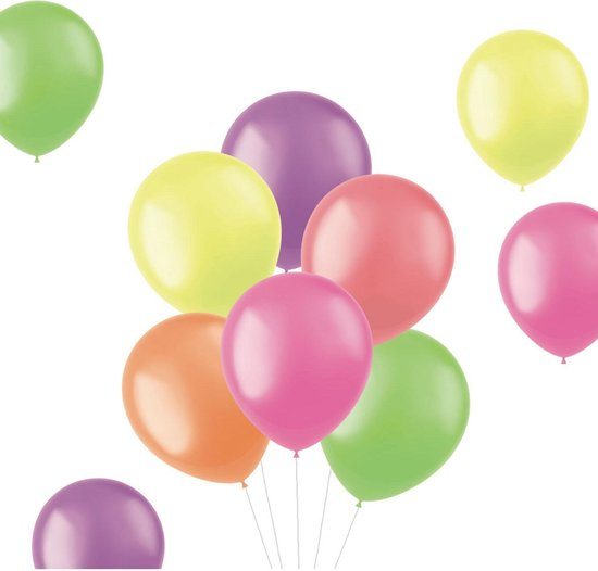 Gekleurde Ballonnen Neon 33cm 50st