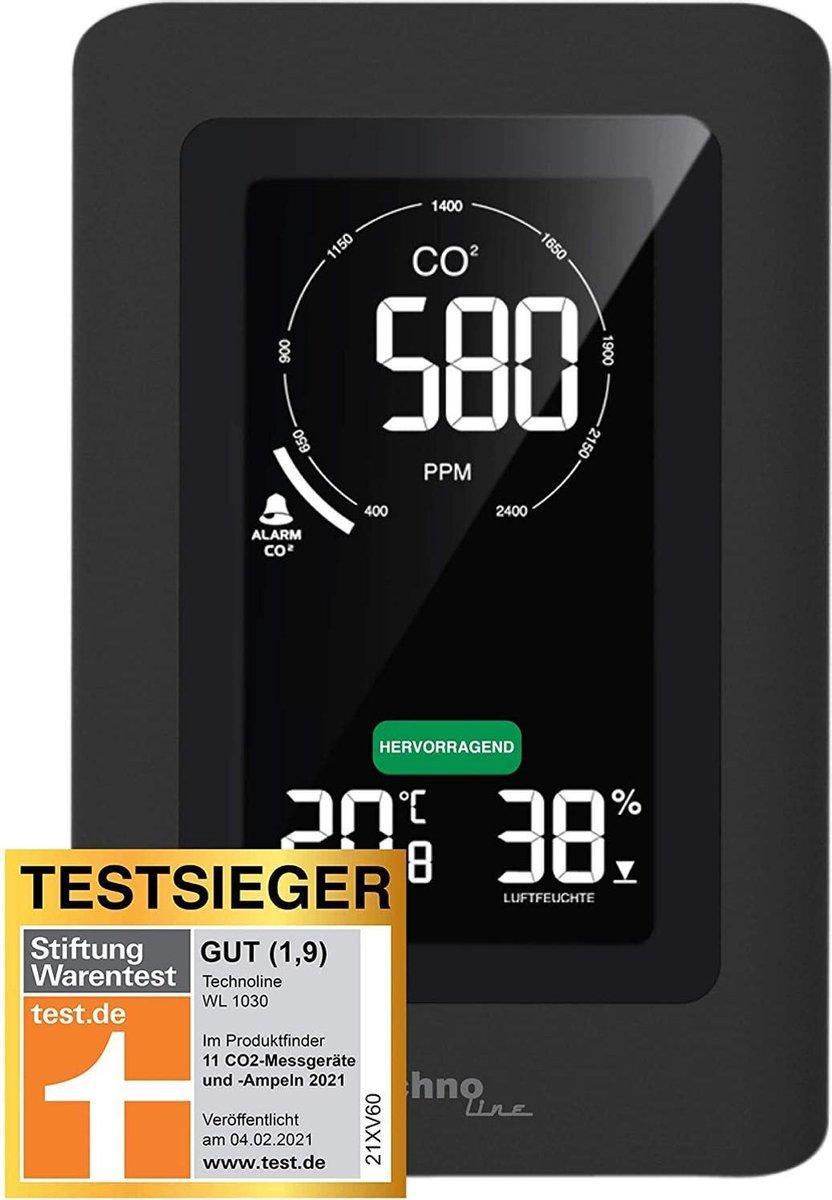 Technoline WL 1030 -  CO2 Meter - Thermo/Hygrometer - Zwart