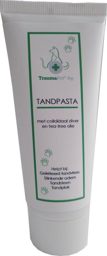 TraumaPet Tandpasta met colloïdaal zilver en tea tree
