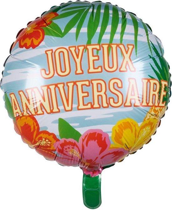 Boland Folieballon Joyeux Anniversaire Paradise 45 Cm
