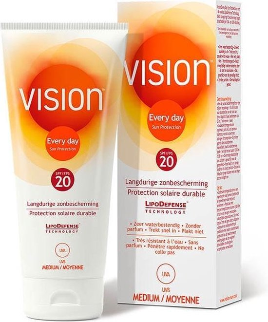 Vision Every Day Sun Protection - Zonnebrand - SPF 20 - 200 ml