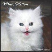 White Kitten 2021 Calendar