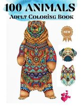 100 Animals Adult Coloring Book
