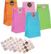 40 uitdeelzakjes met 120 stickers - cadeau zakjes - snoepzakjes - traktatiezakjes - feestzakjes - SARVALA