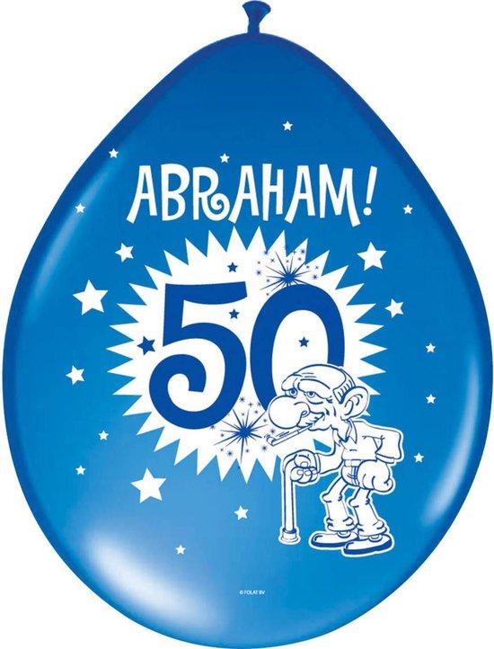Abraham Ballonnen 8 stuks, div kleuren, 50 jaar, Verjaardag