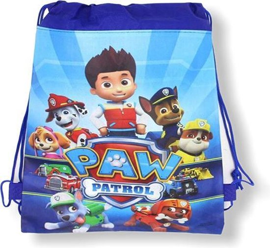 Zwemtas - Paw Patrol - Gymtas - Blauw - Rugtas met trekkoorden