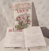 LIBOZA - Boekje 'Voor MIJN heel bijzondere vrouw' - 56 blz - 10,5 x 15 - Cadeau - Liefde - Geluk