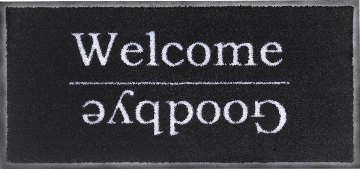 MD Entree - Schoonloopmat - Emotion XS - Welcome Goodbye - 40 x 80 cm - MD-Entree