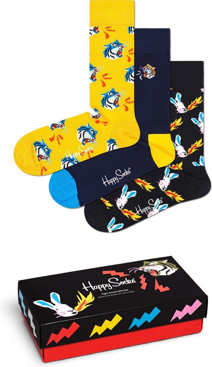 Happy Socks ]Tiger Gift Box 3P - Maat 41-46