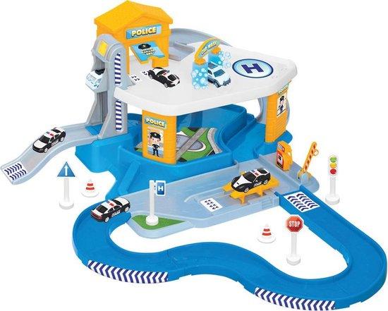 Afbeelding van Politie - Speelgoedgarage - Parkeergarage -  Speelgoed jongens 3 jaar - Auto speelgoed - Garage speelgoed - Speelgoed garage met verdiepingen - Jongens speelgoed speelgoed