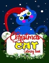 Christmas Cat Coloring Book