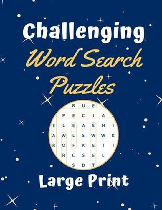 Challenging Word Search Puzzles Large Print